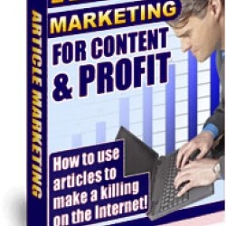 Article Marketing For Content Profit Ebook + Reseller Minisite + Resell Rights