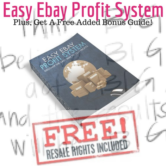 Easy Ebay Profit System w/ Resell Rights ebook PDF