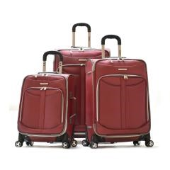 Olympia TUSCANY 3PC EXP. LUGGAGE SET (RED)