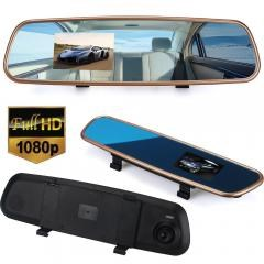 Car HD 3.2'' 1080P Rearview Mirror Dash Camera DVR Cam Video Recorder G-sensor
