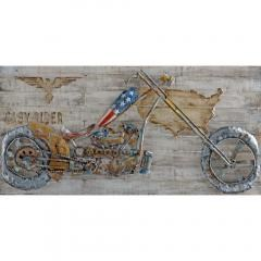 Benzara Motor bike Metal Art by Urban Port