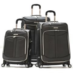 Olympia TUSCANY 3PC EXP. LUGGAGE SET (BLACK)