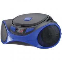 SYLVANIA(R) SRCD1063BT-BLUE Bluetooth(R) Portable CD Radio Boom Box (Blue)