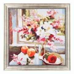 Benzara Floral Wall Art Framed Beautifully, Multi Color