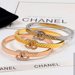 Fashion luxury Bracelet gold plated, silver, rose gold white zircon 7-8 inches