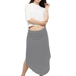 Ladies asymmetric cut high waist skirt