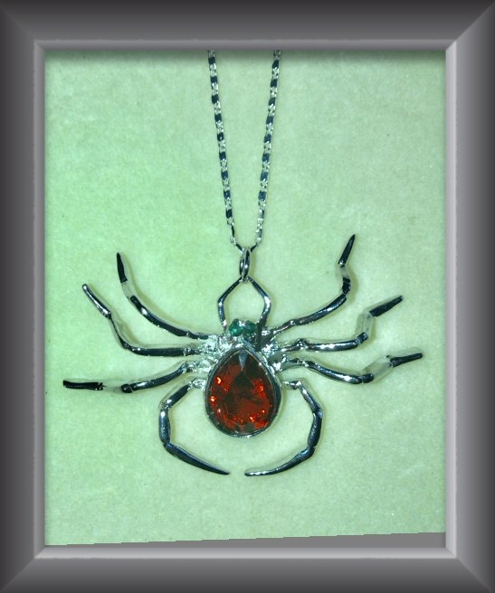 Necklace Rhinestone Spider Necklace