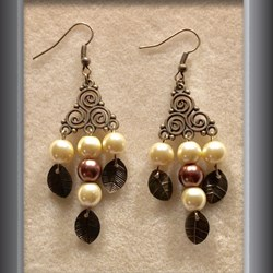 Earrings Chandelier Bronze Earring  (2)