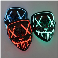 Led Mask Halloween Party Masque Masquerade Masks Neon Maske Light Glow