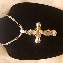 Bling Hip Hop jewelry cross pendant necklace