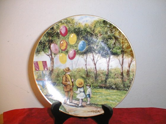 Rare Dominic Mingolla THE BALLOON MAN COLLECTORS PLATE with ALL PAPER WORK