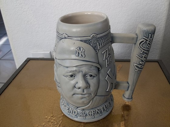 STEIN, COLLECTOR'S STEIN FEATURING BABE RUTH
