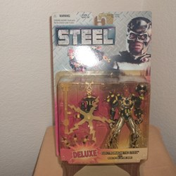 "STEEL,  DELUXE ACTION FIGURE,""ELECTROMAGENETIC STEEL"""