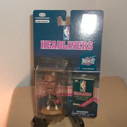 NBA HEADLINER ACTION FIGURE ,HOUSTON ROCKETS CLYDE DREXLER