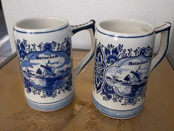 STEINS, HEINEKEN BEER MUGS
