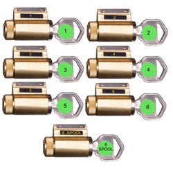 PRACTICE LOCK PROGRESSIVELY PINNED SET OF 7 KW KEYWAY