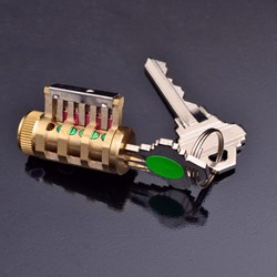 Rare Type of Locksport Practice Lock, Double CutAway - SC Keyway