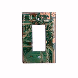 Outlet Cover Switch Wall Plate Deco Style Mid-Sized Made From Circuit Board Material