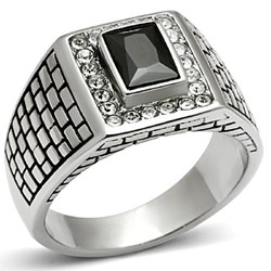 Stainless Steel Men's Ring (#06492)