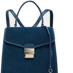 Zara Genuine Suede Convertible Backpack BNWT