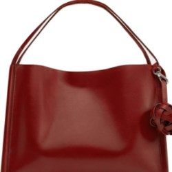 Zara Genuine Leather Knotted Bag BNWT RED M