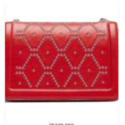Zara Studded Leather CROSSBODY bag BNWT M RED
