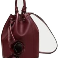 Zara floral bucket bag BNWT Burgundy M