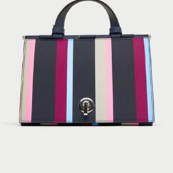 Zara triangular striped City bag BNWT MULTICOLOR M