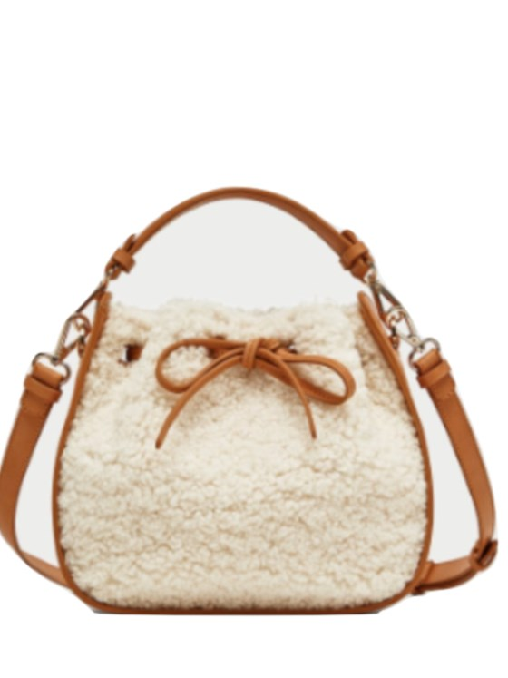Zara faux fur mini bucket bag BNWT MULTICOLOR M